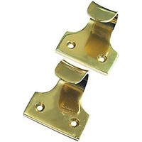 Wickes Sash Window Lift Handle Brass 50mm 2 Pack