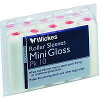 Wickes Mini Gloss Roller Sleeve Short Pile 108mm 10 Pack