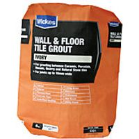 Wickes Wall & Floor Tile Grout Ivory 5kg