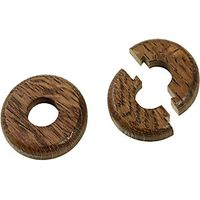 Wickes Real Wood Pipe Surrounds Dark Wood Effect 2 Pack