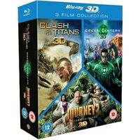 Clash of the Titans/Green Lantern/Journey 2 Triple Pack (Blu-ray 3D)