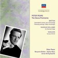 Peter Pears: Decca Premieres (Music CD)