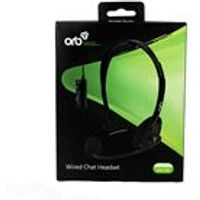 ORB Wired Headset Black (Xbox 360)