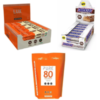 Snickers Protein Bar, LUX Protein Bar and 1kg Whey Bundle