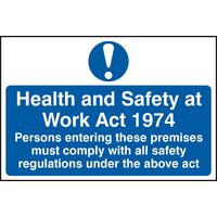 Notice Health And Safety At Work Act 1974