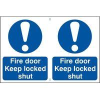 Notice Fire Door Keep Locked