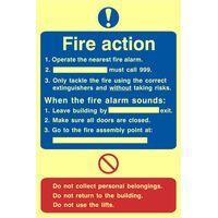Fire Action Procedure Glow In The Dark