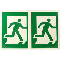 Plastic Sign Man Running Right
