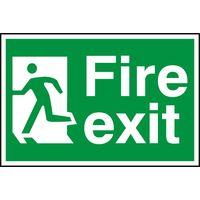 Notice Fire Exit (Man Running Left)
