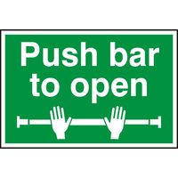 Notice Push Bar To Open