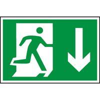 Notice Running Man Arrow Down (Symbol)