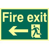 Fire Exit Left Glow In The Dark