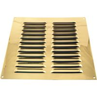Brassed Louvre Slotted Vent 229x229mm