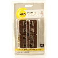 Yale Window Security Lock Brown Pack of 4