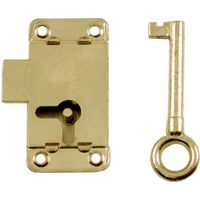 Brassed Cabinet Lock 50mm