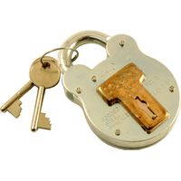 2in Galvanised Traditional Style Padlock 4 Lever