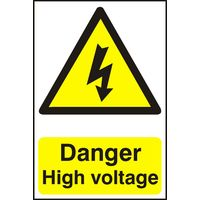 Notice Danger High Voltage