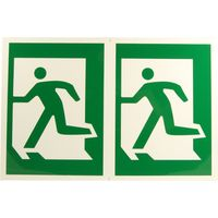 Plastic Sign Man Running Left
