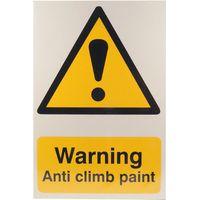 Notice Warning Anti Climb Paint