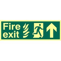 Fire Exit Arrow Up Glow In The Dark