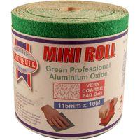 Green Sand Paper Roll 40 Grit 115mmx10M