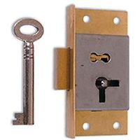 Cut Cabinet Lock 1 Lever 64mm Left Hand