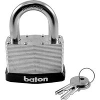 Baton Laminated Steel Padlock 50mm
