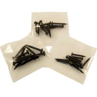 Pack of 10 Blackjax Woodscrews Japanned Round Head