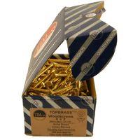 Brass CSK Woodscrews Box of 200