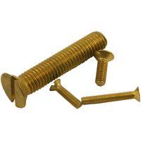 Pack of 10 Machine Screws Csk Brass Self Colour