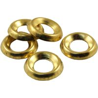 Pack of 100 Surface Screw Cup Washers Brass