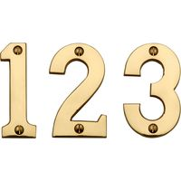 Heritage C1566 Brass Screw Fix Door Numerals 0-9 76mm