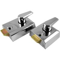 M Marcus Chrome Security Nightlatch and Cylinder