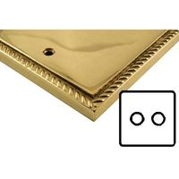 Polished Brass Georgian Style Electrical 2 Gang 2 Way Dimmer Light Switch