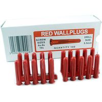Red Wall Plugs Sold In 100s
