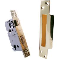 Qube 64mm Bathroom Turn Mortice Lock Brass