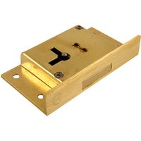 Cut Cabinet Lock 4 Lever 64mm Right Hand