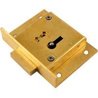 Brass Drawer Lock 4 Lever 76mm