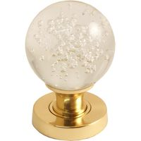 Clear Glass Bubble Door Knobs 60mm
