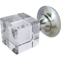 Square Glass Door Knobs 45mm