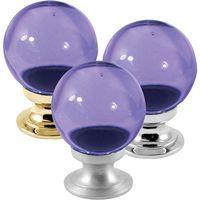 Purple Round Glass Cabinet Knobs