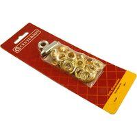 3/8in Brass Eyelet Set