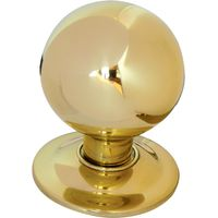 Brass Ball Style Front Door Knob 3in
