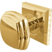 Solid Brass Interior Door Knobs on Square Fixing Plate