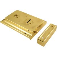 Brass Rimlock 152x100mm