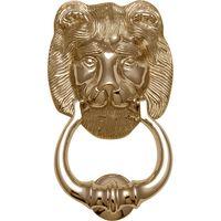 Heritage K1210 Brass Lions Head Exterior Door Knocker 180mm