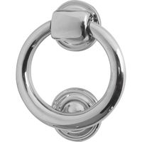 Polished Chrome Ring Front Door Knocker 105mm