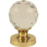 Clear Glass Cut Style Interior Door Knobs