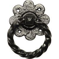 Kirkpatrick 632 Black Antique Style Ring Gate Latch Handle