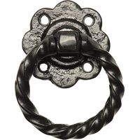 Kirkpatrick 679 Black Antique Style Ring Gate Latch Handle